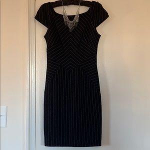 Diane Von Furstenberg pinstripe dress